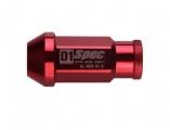 Kolové matice (štefty) D1 Spec závit M12 x 1.25 - červené