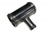Hliníková (Alu) trubka T kus - průměr 63,5mm (2,5 palce) - 25mm - délka 100mm