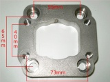 Redukční adaptér na Fiat Uno turbo IHI > T25 (ocel)