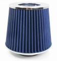 Sportovní filtr univerzální 60/65/70/76/90mm modrý Jap Parts