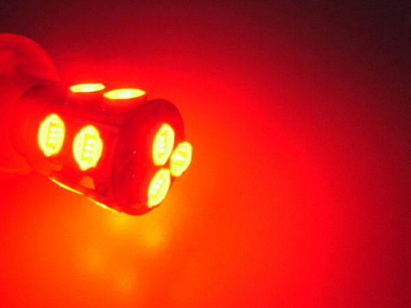 Noname LED koncová světla 1157 / BAY15D 13W High Power LED červená