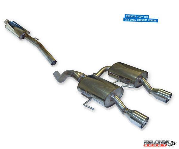 Milltek Sport Manifold back výfuk Milltek Renault Clio RS 182 2.0 16V (03-06) - verze s rezonátorem