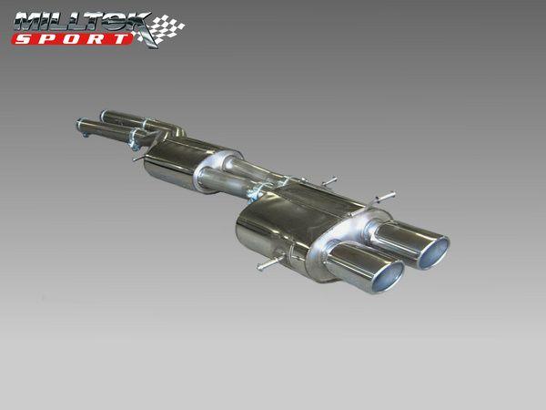 Milltek Sport Catback výfuk Milltek Audi RS4 B5 V6 Bi-Turbo Avant (00-02) - verze bez rezonátoru - katalyzátory Milltek