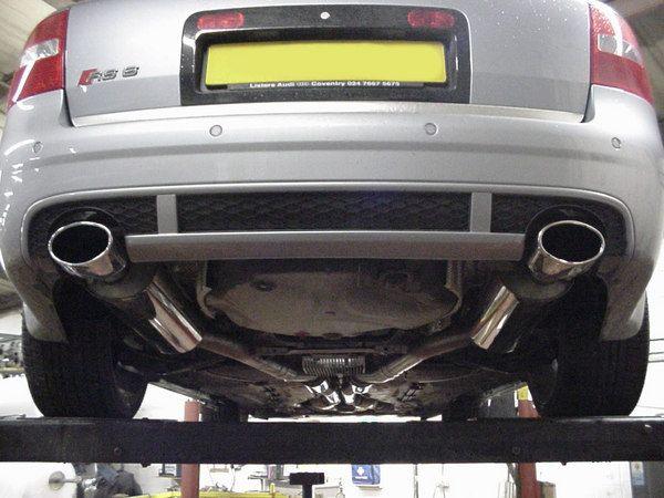 Milltek Sport Catback výfuk Milltek Audi RS6 V8 Bi-Turbo Sedan/Avant (02-) - verze s rezonátory - koncovky 150x95mm Black Oval