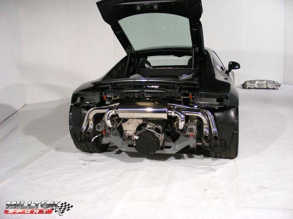 Catback výfuk Milltek Audi R8 V8 4.2 FSI Quattro (07-12) - verze bez rezonátorů