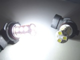 LED mlhová světla HB3 / 9005 xenon bílá 18x SMD