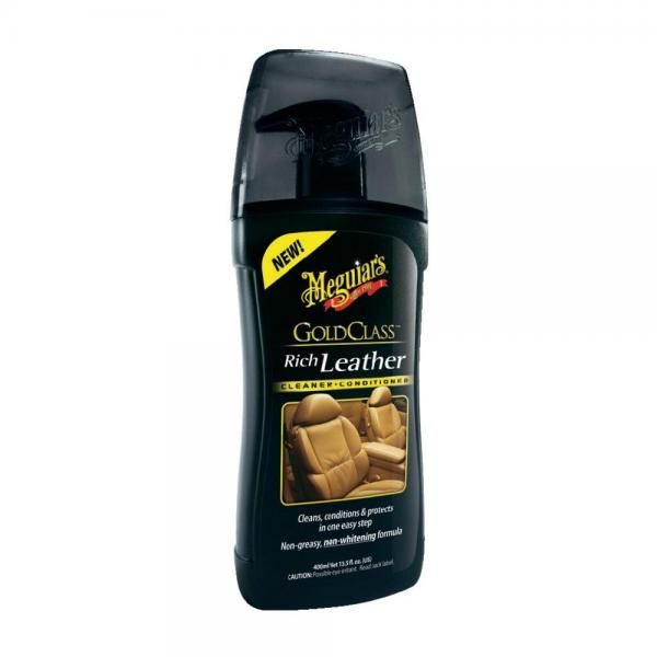 Meguiars Gold Class Rich Leather Cleaner 400ml - čistič kůže s kondicionérem