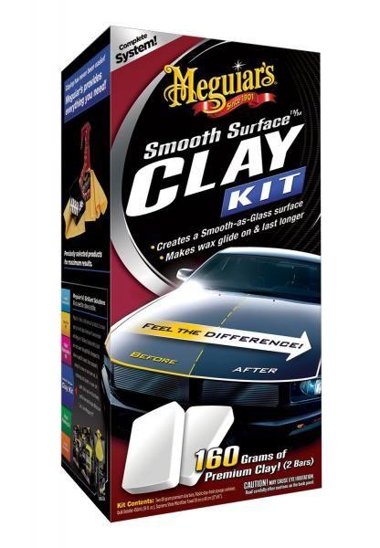 Meguiars Smooth Surface Clay Kit - sada pro odstranění odolných nečistot z laku