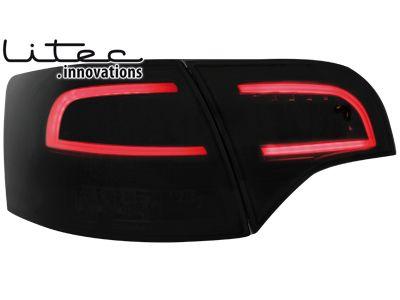 Dectane Zadní čirá LED světla Audi A4 Avant B7 černé