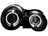 Přední čirá světla Angel Eyes Mercedes W208