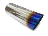 Koncovka výfuku kulatá zkosená s titanovým efektem - průměr 85mm