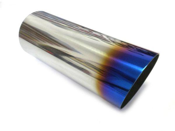 Jap Parts Koncovka výfuku kulatá zkosená s titanovým efektem - průměr 85mm