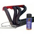 Termo izolační kit na výfuk Thermotec (černá páska 50mm x 15m, sprej, stahovačky) - V4/moto