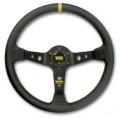 Volant OMP Corsica 350mm - černý/černý - kůže