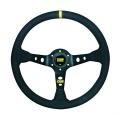 Volant OMP Corsica 350mm - černý/černý - semiš