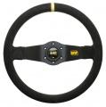 Volant OMP Rally 350mm - černý/černý - semiš