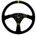 Volant OMP WRC 350mm kůže černá/čermá
