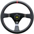 Volant OMP WRC 350mm - černý/černý - kůže