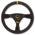 Volant OMP WRC 350mm - černý/černý - semiš