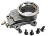 Příruba s ovládací klapkou pro interní wastegate na turbo T3/T4