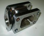 Redukční adaptér na turbo T25 > T3 + wastegate 38mm (ocel)