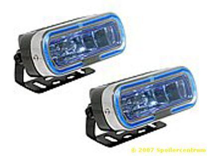 Světlo mlhové hranaté + blue LED 2ks