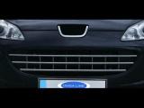 Nerezové lišty předního nárazníku Peugeot 407