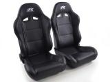 Sportovní sedačky FK Automotive Racing černé