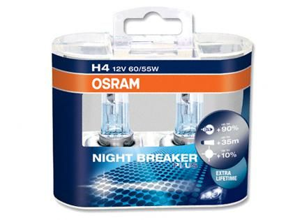 Autožárovky Osram Nightbreaker PLUS H4 60/55W