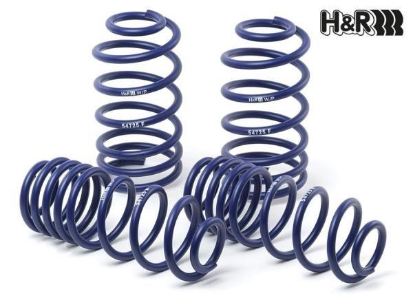 Sportovní pružiny H&R pro Honda Accord IV Typ CB 3, CB 7, CC 1, s poh. př. kol, r.v. od 89 do 98, snížení 40/40mm