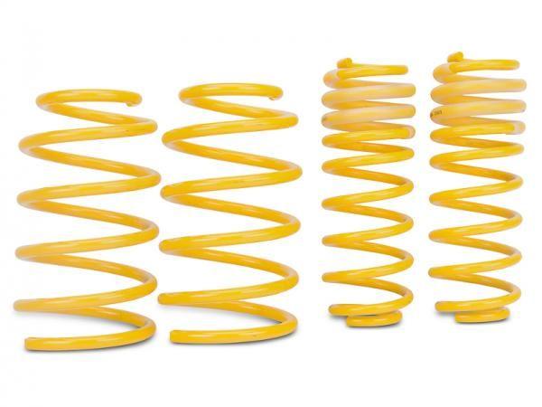 Sportovní pružiny ST suspensions pro VW Passat B5.5 (3BG) s poh. př. kol, Kombi, r.v. od 00 do 05, 1.6/2.0/1.8T s man. přev., snížení 40/30mm