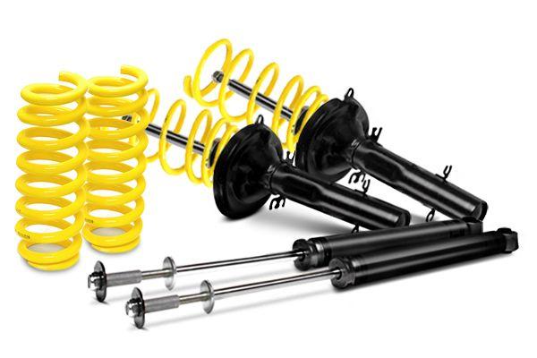 Kompletní sportovní podvozek ST suspensions pro BMW řady 3, E30 (3/1, 3/R) sedan 316i, 318i, 318is, snížení 40/00mm, pro průměr těhlice 45 mm