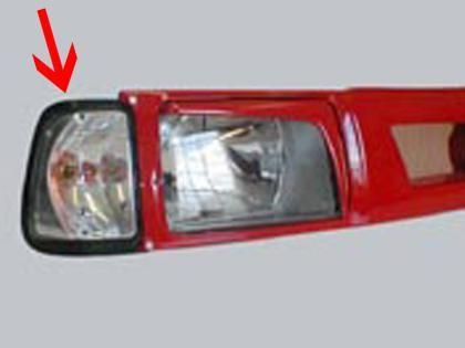 Čiré kryty předních blinkrů Škoda 120