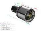 Koncovka výfuku Ulter kulatá, průměr 100mm / délka 120mm