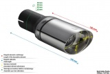 Koncovka výfuku Ulter oválná, průměr 65mm/95mm / délka 120mm
