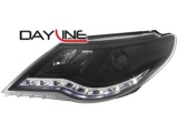 Přední LED světla  DayLine Volkswagen Passat CC - černé