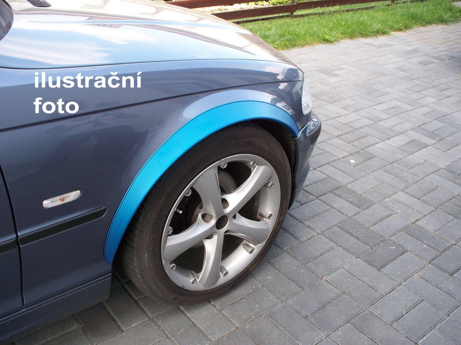 Globmel Lemy blatníků Mercedes E W124, 4-dvéř. sedan, kombi, coupe, pro lakování