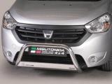 Nerezový přední ochranný rám Dacia Dokker, 63mm