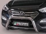 Nerezový přední ochranný rám Hyundai Santa-Fe III, 76mm