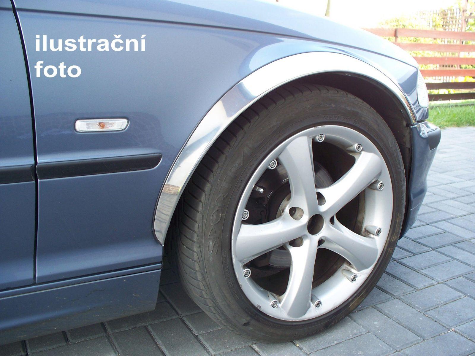 Globmel Chromové lemy blatníků Volkswagen Passat B6, 4-dvéř. sedan, kombi