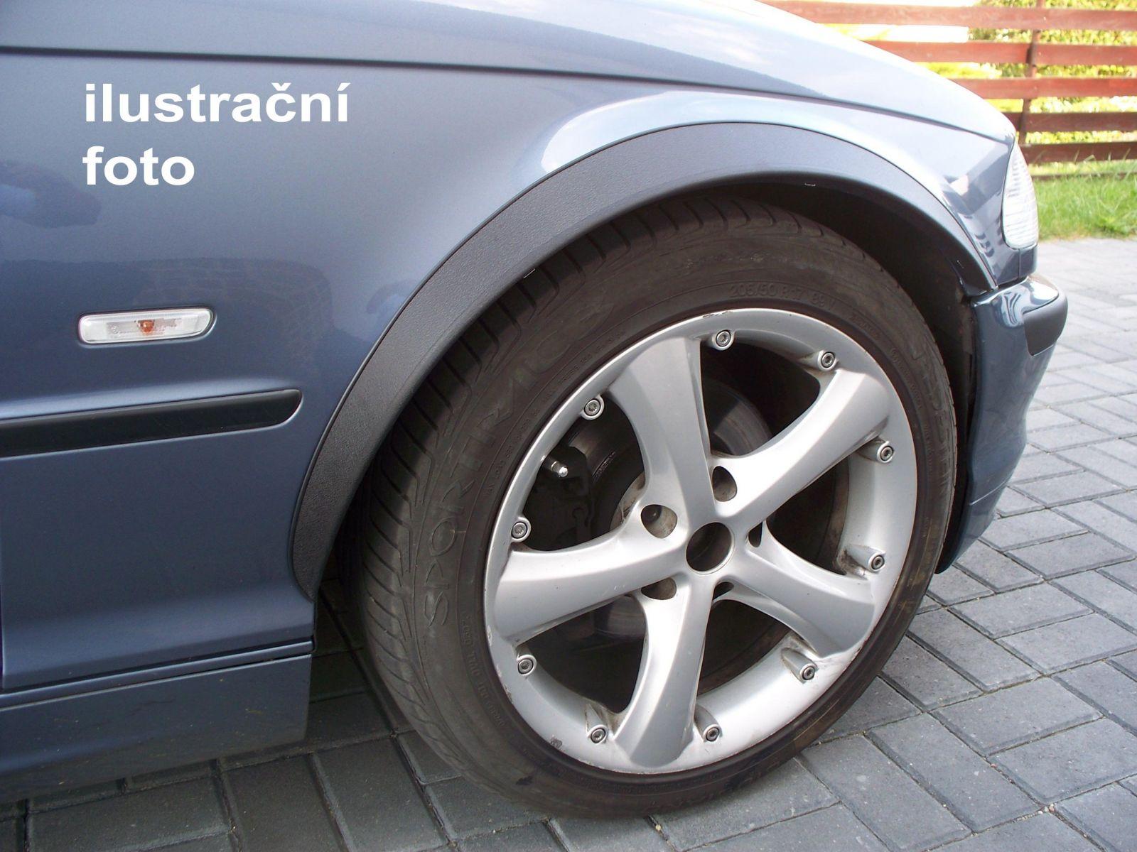 Globmel Lemy blatníků BMW 3 (E36), 2-dvéř. cabrio , černý mat