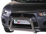 Nerezový přední ochranný rám Mitsubishi Outlander II FL, 63mm