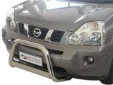 Nerezový přední ochranný rám Nissan X-Trail II, 63mm