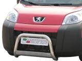 Nerezový přední ochranný rám Peugeot Bipper, 63mm