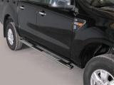 Nerez boční designové nášlapy Ford Ranger