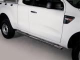 Nerez boční designové nášlapy Ford Ranger, Super Cab