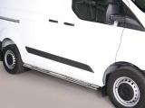 Nerez boční designové nášlapy Ford Transit Custom, krátká verze (L1)