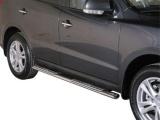 Nerez boční designové nášlapy Hyundai Santa Fe II