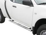 Nerez boční designové nášlapy Mitsubishi L200 IV FL, Club Cab
