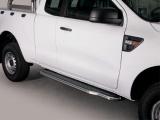 Boční nerezové nášlapy Ford Ranger, Super Cab